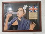 AMY WINEHOUSE, Nov 2015, HS and IP, FJ17. by The Meek, Glasgow Cowboy., Painting, Oil on Board