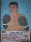 Ali The Greatest 3, Oct 2016, HS, FJ 32. by The Meek., Painting, Watercolour on Paper