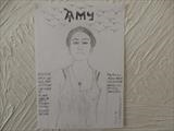 Amy Winehouse, Aug 2015, HS, For JEHOVAH 12. by The Meek, Glasgow Cowboy., Drawing
