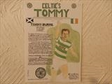 BURNS OF CELTIC FC. by The Meek, Glasgow Cowboy., Drawing