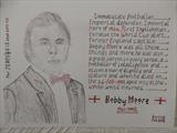 Bobby Moore 2, Sept 2015, HS, For JEHOVAH 13. by The Meek, Glasgow Cowboy., Drawing