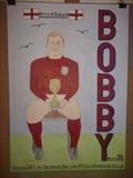 Bobby holding the World Cup 1966. May 2016, HS. FJ 27. by Glasgow Cowboy, Drawing