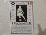 CELTIC,S SCOTT BROWN, Feb 2012, HS. by The Meek, Glasgow Cowboy., Drawing