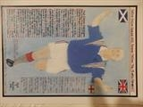 GAZZA OF RANGERS FC, Dec 2018, HS, FJ51. by The Meek, Glasgow Cowboy., Drawing