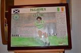 McGarvey of Celtic. Oct 2013, HS and RLP, FTGOJ 1. by Glasgow Cowboy, Painting, Acrylic on paper