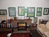 Ronnie,s Flat DESIRED HAVEN Living Room CELTIC FC Wall. by The Meek, Glasgow Cowboy., Drawing