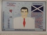 Sean Connery. by The Meek, Glasgow Cowboy., Drawing
