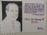 Sir Alf Ramsey of ENGLAND 1966, Nov 2015, HS. by The Meek, Glasgow Cowboy., Drawing