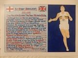 Sir Roger Bannister, Apr 2018, HS, FJ 46. by The Meek, Glasgow Cowboy., Drawing