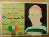 Tommy Gemmell of Celtic FC, Mar 2017, HS, For JEHOVAH 35. by The Meek, Glasgow Cowboy., Drawing