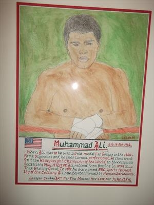 Ali The Greatest 1, Nov 2015, GSA, HS, For JEHOVAH 18. by Glasgow Cowboy, Painting