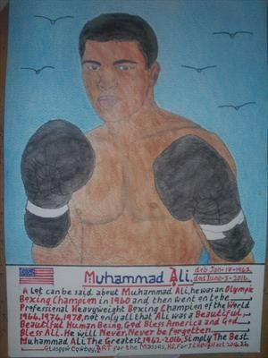 Ali The Greatest 3, Oct 2016, HS, For JEHOVAH 32. by The Meek., Painting, Watercolour on Paper