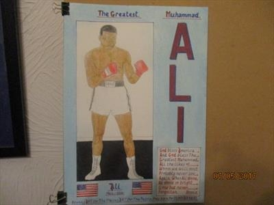 Ali The Greatest 4, May 2017, HS, For JEHOVAH 38. by The Meek, Glasgow Cowboy., Drawing