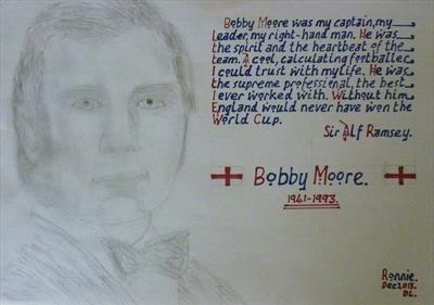 Bobby Moore. Dec 2013. HS. DL, For JEHOVAH 9. by Glasgow Cowboy, Drawing