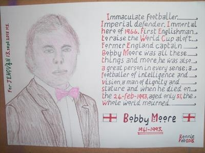 Bobby Moore, Drawing 3, Sept 2015, HS, For JEHOVAH 13. by Glasgow Cowboy, Drawing