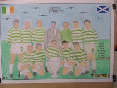 Celtic,s Lisbon Lions, 25-May-2017, For JEHOVAH 36. by The Meek, Glasgow Cowboy., Drawing