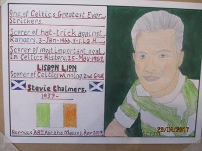 Celtic,s Steve Chalmers, Apr 2017, HS, For JEHOVAH 37. by The Meek, Glasgow Cowboy., Drawing, Pastel on Paper