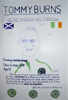 Celtic,s Tommy Burns, No 2, May 2009. HS. by Glasgow Cowboy, Drawing