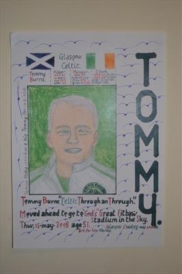 Celtic,s Tommy Burns, No 3, May 2010, HS. by Glasgow Cowboy, Painting, Pastel & Ink
