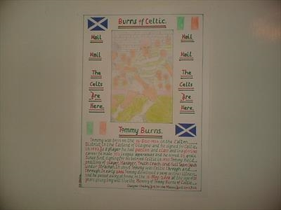 Celtic,s Tommy Burns, No 4, April 2012, T103. by Glasgow Cowboy, Drawing, Pastel on Paper