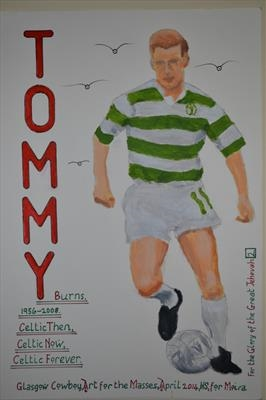 Celtic,s Tommy Burns, No 6, April 2014, HS and IP, FJ 2. by Glasgow Cowboy, Painting, Acrylic on paper