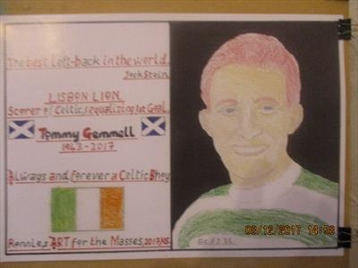 Celtic,s Tommy Gemmell, Apr 2017, HS, For JEHOVAH 35. by The Meek, Glasgow Cowboy., Drawing, Pastel on Paper