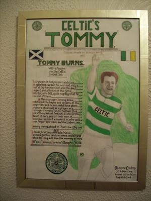 Celtics Tommy Burns, No 1, Feb 2009, McN RLP. by Glasgow Cowboy, Painting, Mixed Media