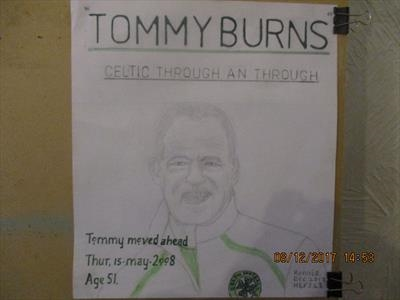 Celtics Tommy Burns, No 7, Dec 2017, HS, For JEHOVAH 48. by The Meek, Glasgow Cowboy., Drawing