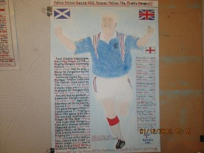 GAZZA Of The Mighty Rangers, Dec 2018, HS, FJ 51. by The Meek, Glasgow Cowboy., Drawing, Pastel on Paper