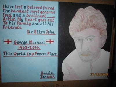 George Michael. Jan 2017, HS, For JEHOVAH 33. by The Meek., Drawing