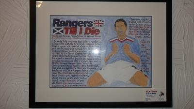 Nacho Novo of Rangers. May 2010, HS and T103. by Glasgow Cowboy, Drawing, Mixed Media on paper