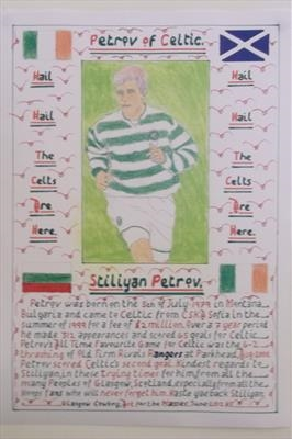 Petrov of Celtic, June 2012, HS. by Glasgow Cowboy, Drawing