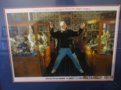 Ronnie in Ibrox Trophy Room, Nov 2004. by The Meek, Glasgow Cowboy., Photography