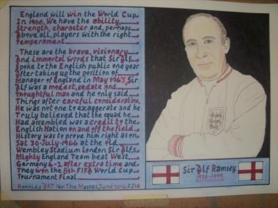 Sir Alf Ramsey 2, June 2016, HS, For JEHOVAH 28. by Glasgow Cowboy, Drawing