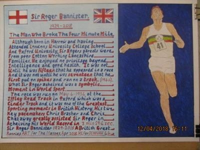 Sir Roger Bannister 2, Apr 2018, HS, For JEHOVAH 46. by The Meek, Glasgow Cowboy., Drawing