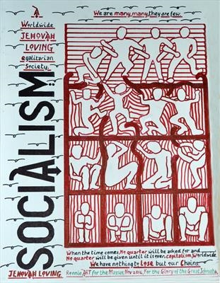 Socialism. Nov 2014, HS, For JEHOVAH 6. by Glasgow Cowboy, Drawing, Pen on Paper