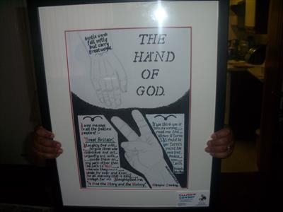 The Hand of God. Oct 2009. IPCU RLP. by Glasgow Cowboy, Drawing, pencil and ink.