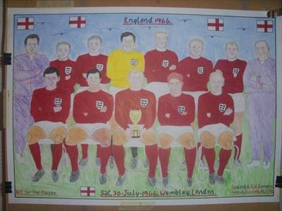 The Mighty ENGLAND 1966. July 2016, HS, For JEHOVAH 30. by Glasgow Cowboy, Drawing