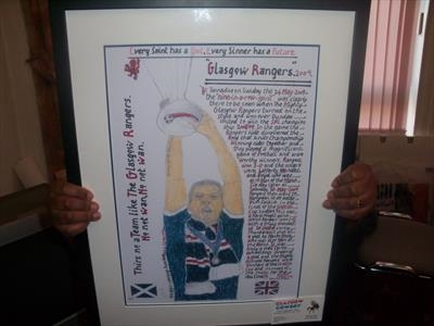 The Mighty Rangers, June 2009. HS. by Glasgow Cowboy, Artist Print, Pastel and Ink.